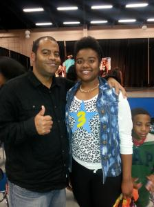 With my daughter Amber after she performed in her school talent show.