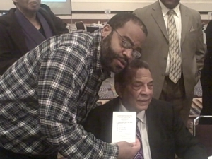 With Civil Rights Leader Andrew Young