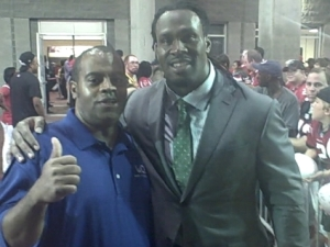 With Steven Jackson of the Atlanta Falcons